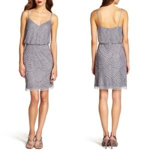 Adrianna Papell Sequin Mesh Bluson Dress
